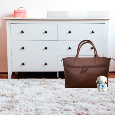 BabyZest Leather Diaper Tote Bag