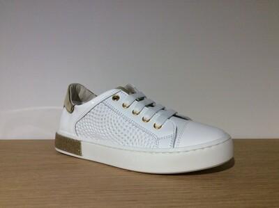 Luca meisjesschoenen Antigua bianco+oro