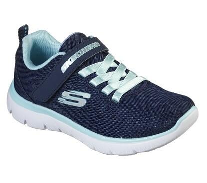 Skechers meisjesschoenen vrije tijd Summer navy+aqua