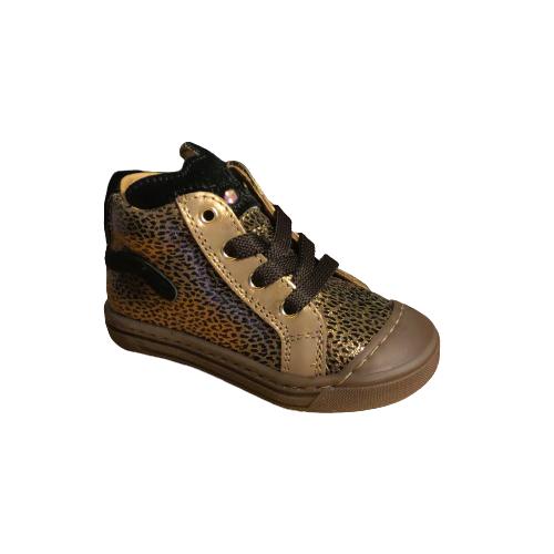 Stones and Bones meisjesschoenen Caba leopard bronze