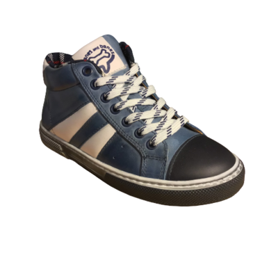 Stones and Bones jongensschoenen Rekko vit bluette+off white