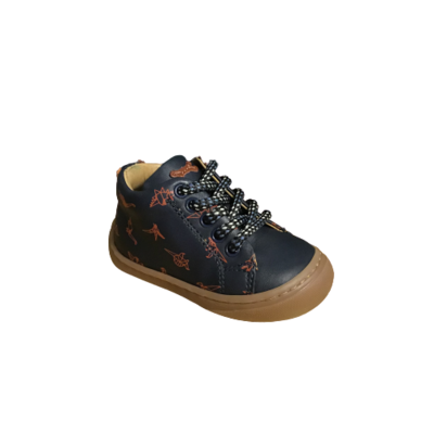Stones and Bones jongensschoenen Vorm calf navy+brick