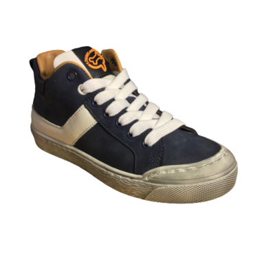 Stones and Bones jongensschoenen Gosty calf navy+white