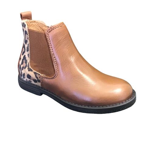 Nörvik laarzen kort cognac leopard