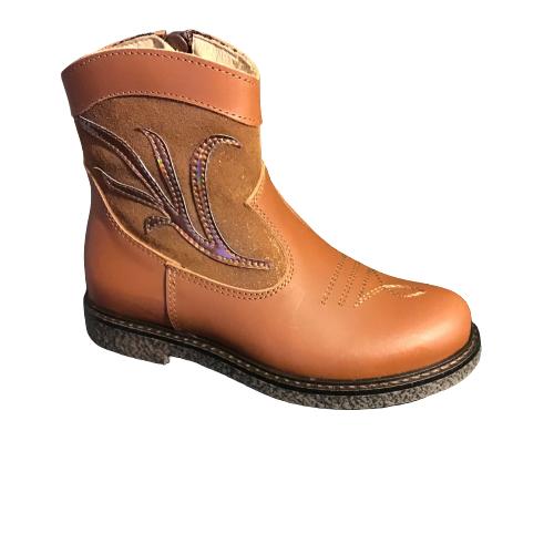 Lunella meisjesschoenen laarzen kort cognac