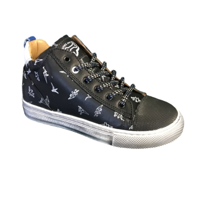 Stones and Bones jongensschoenen Trust calf black+white
