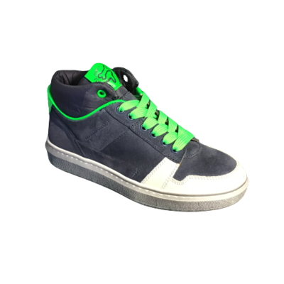 Stones and Bones jongensschoenen Tower navy+verde fluo