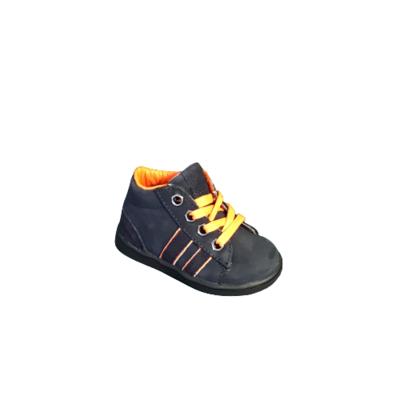 Hip jongensschoenen zomer donkerblauw+oranje