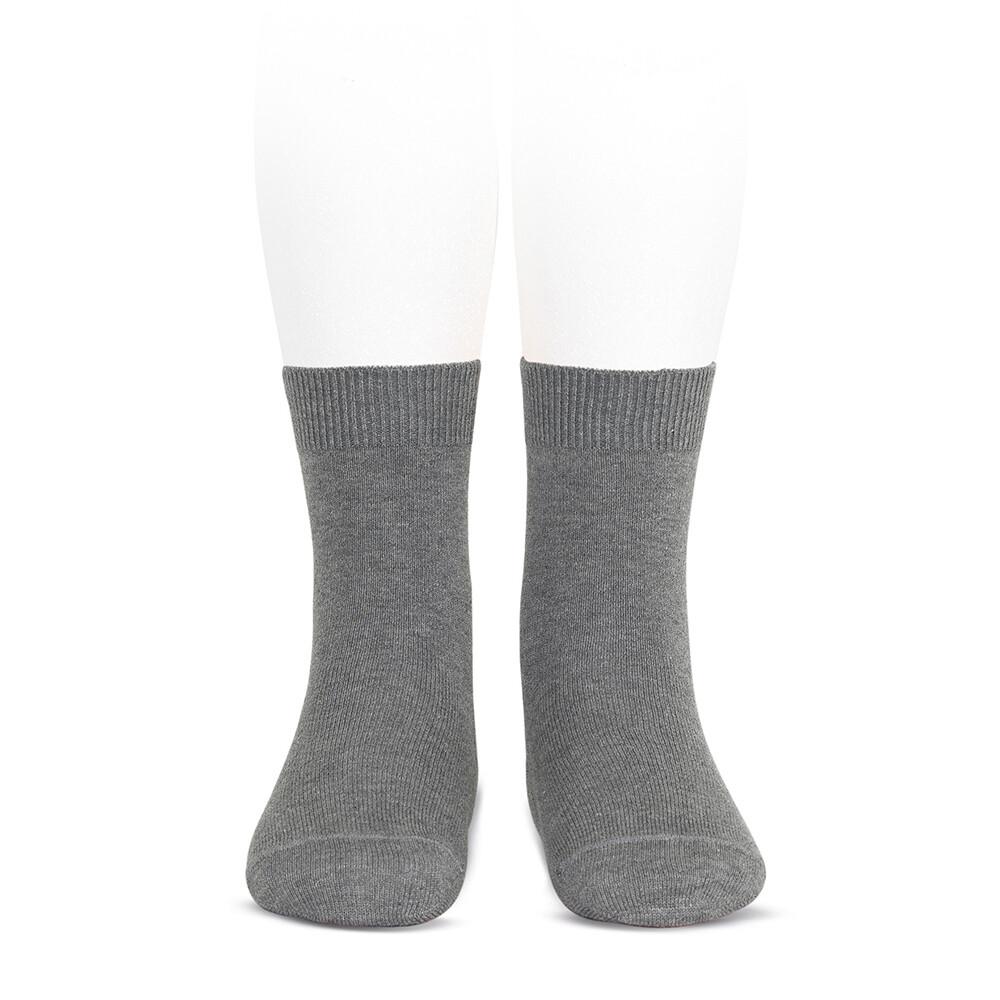 Condor sokken effen grijs