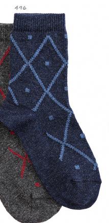 Condor sokken met ruit marine