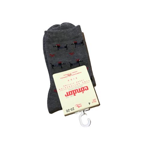 Condor sokken met teckel grijs