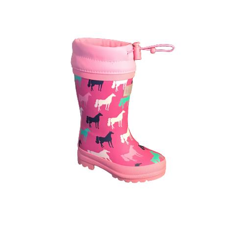 Hatley regenlaarzen horses pink