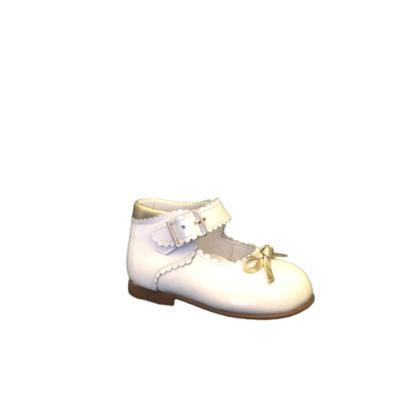 Landos meisjesschoenen ballerina wit lakleder