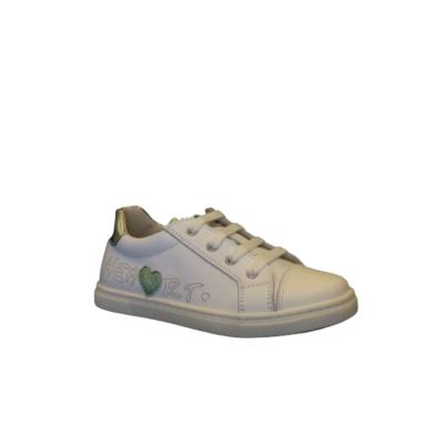 Luca meisjesschoenen zomer bianco+green