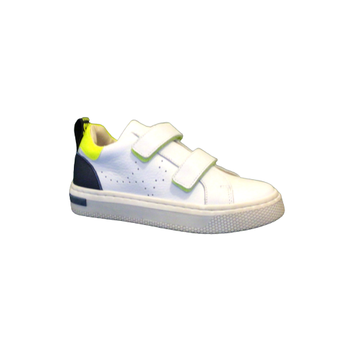 Luca jongensschoenen zomer white + fluo
