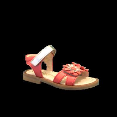 lunella sandalen meisjes corallo + platino