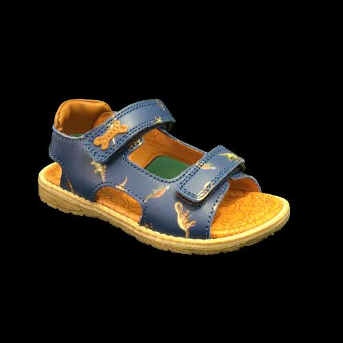 Stones and Bones sandalen jongens Delo calf elctric blue+cuoio