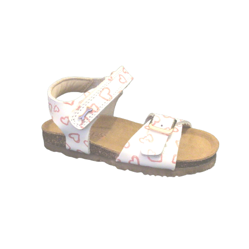 Stones and Bones sandalen meisjes Crast vit heart white