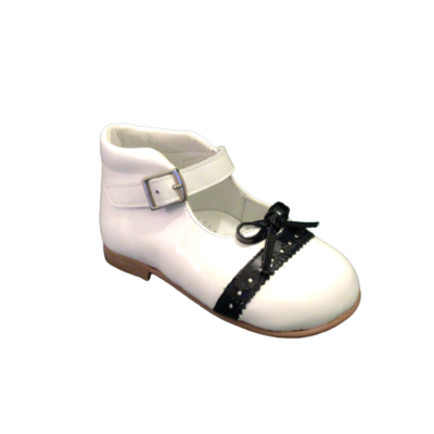 Landos meisjesschoenen ballerina bianco+navy