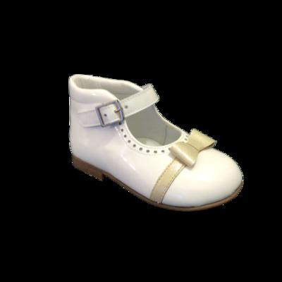 Landos meisjesschoenen ballerina bianco+oro