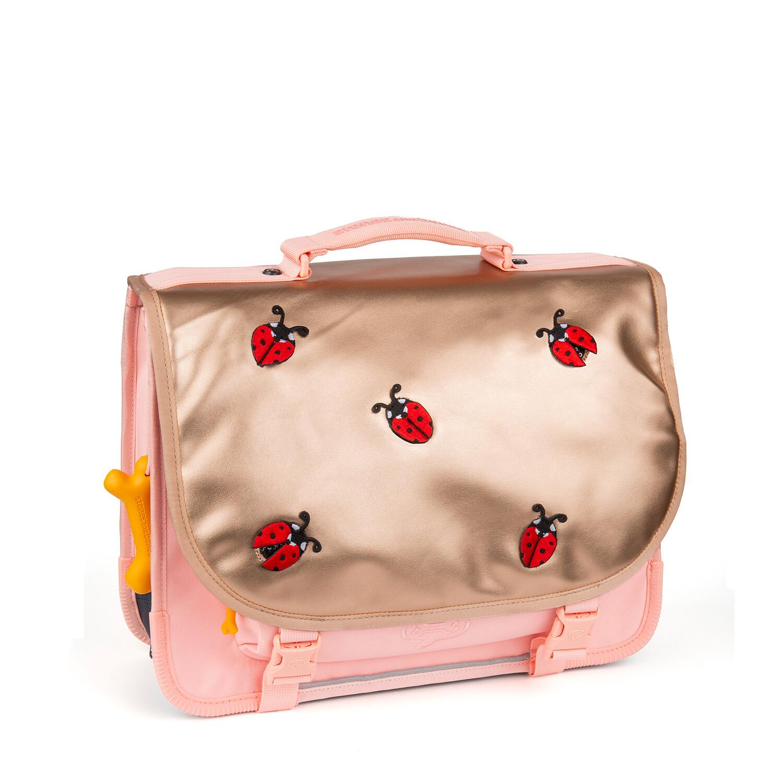 Stones and Bones boekentas Lily Ladybugs pink