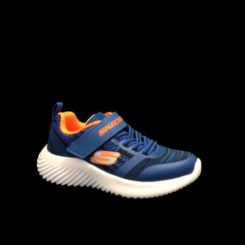 Skechers jongensschoenen vrije tijd blue + orange
