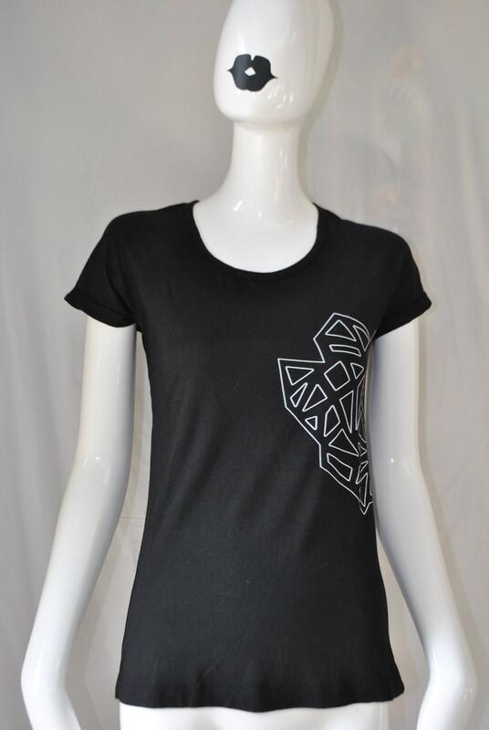 Tshirt femme noir logo Kalf, taille S