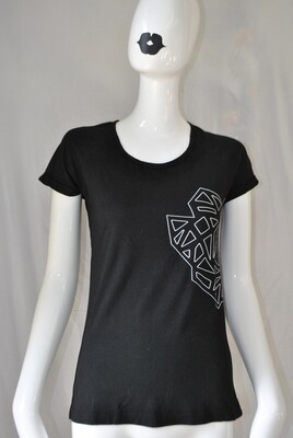 Tshirt femme noir logo Kalf, taille S