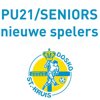 Lidgeld Nieuwe spelers PU21 & Seniors + inbegrepen trainingspak, kousen, short, shirt, polo en sporttas