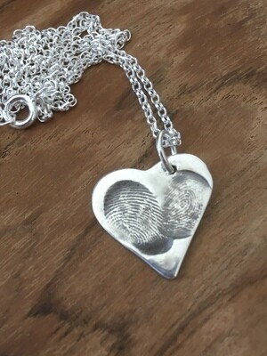 Bespoke Fingerprint Charm Two Prints