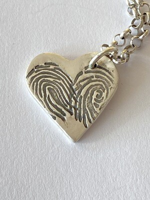 Bespoke Fingerprint Charm Enhanced (Two Prints)