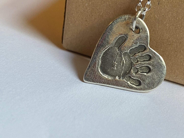 Memorial Handprint Charm 2.5-3cm
