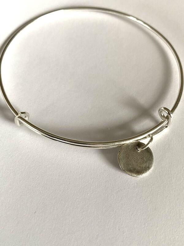 Adjustable Bangle Charm Bracelet Sterling Silver