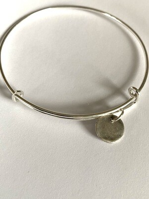 Adjustable Bangle Charm Bracelet Sterling Silver
