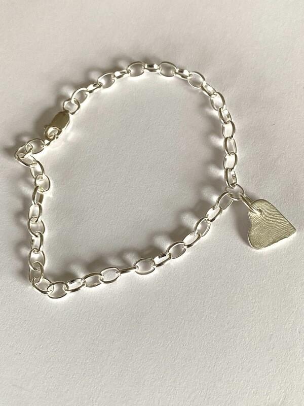 Link Charm Bracelet Sterling Silver