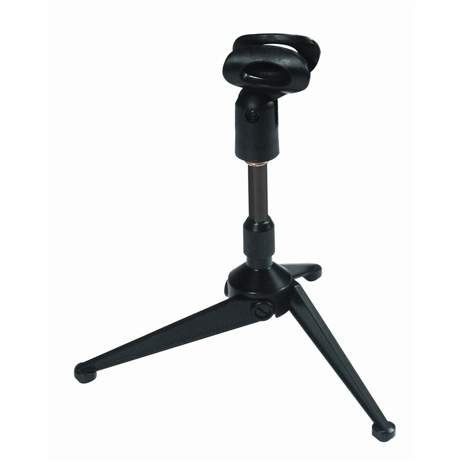 A188 Desk-top tripod microphone stand w/mic clip - Clamshell package