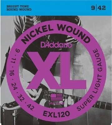 D'Addario EXL120 Super Light / 009-042 (Nickel Wound)