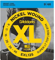 D'Addario EXL125 Super Tops / 009-046
