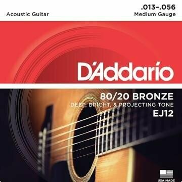 D'Addario EJ12 Custom Light