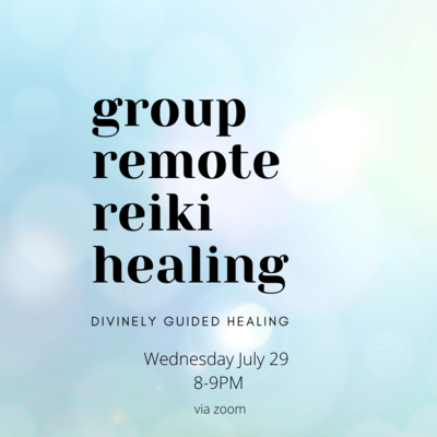 Online Group Remote Reiki Healing