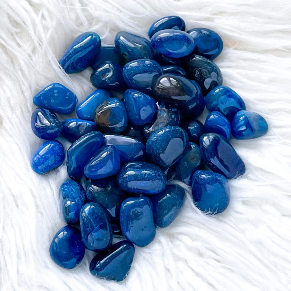 Blue Agate Tumbled Stones