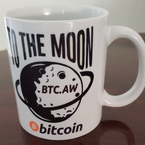 To The Moon Bitcoin Coffee Mug