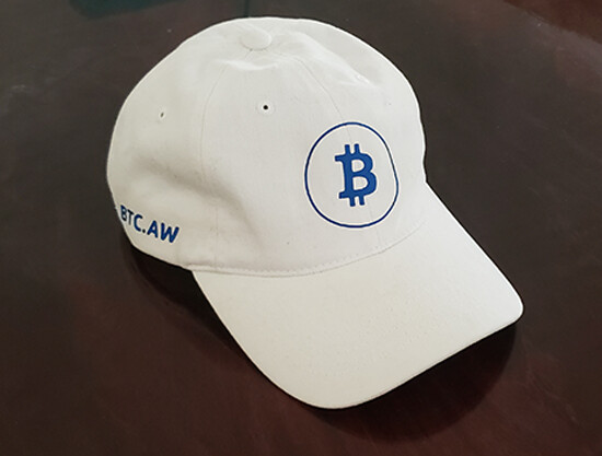 Bitcoin Baseball Cap - White