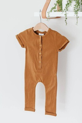 Henley Romper - Butterscotch