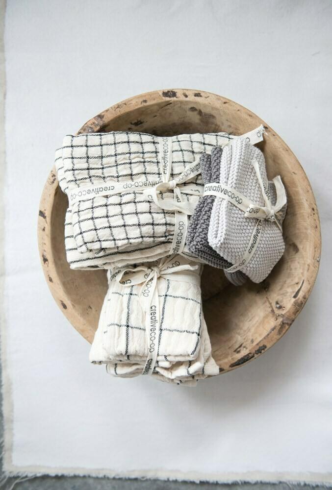Cotton Napkins, Natural, Set of 4