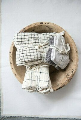 Cotton Napkins, Natural, Set of 4