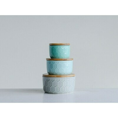 Stoneware Canister - 2 sizes