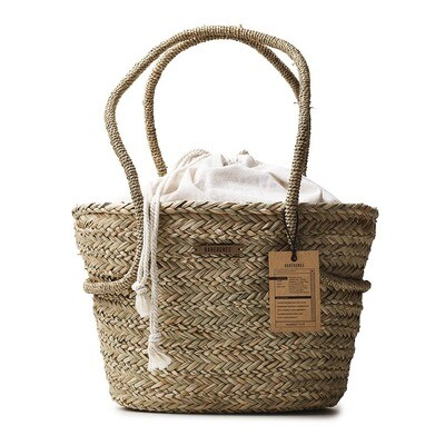 Seagrass Market Tote with Liner