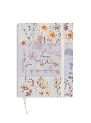 Faux Leather Sketchbook- Golden Garden