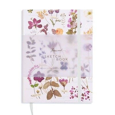 Faux Leather Sketchbook- Love Garden